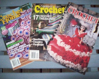 Set of 3,Crochet,Patterns,Supplies,Crafts,Crochet Home,Hooked on Crochet,Annie's Crochet,Newsletter