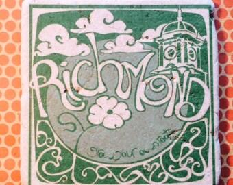 Marble trivet - Richmond GYOR Green