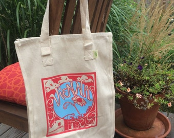 Vienna Grow Your Own Roots Tote - Red