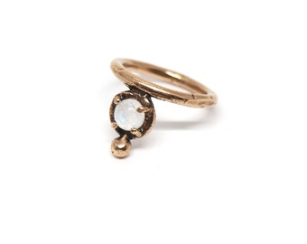 Uva Ursi Ring // moonstone, lapis, turquoise, or red jasper