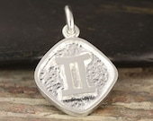 Gemini zodiac pendant in sterling silverdouble sided, Gemini necklace, zodiac necklace, zodiac jewelry