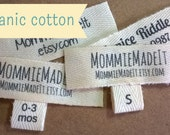 Organic Cotton Fabric Ribbon Name Labels - Custom Clothing Labels Made to Order