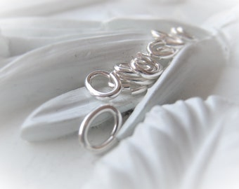 Sterling Silver Oval Jump Ring 8mm 20 Gauge Ring Item No. 2778