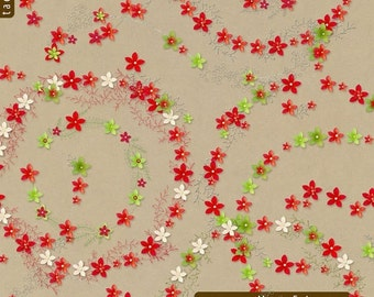 Mary Red and Green Frippery  Digital Elements for digital scrapbooking card making