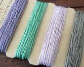 Hemp Cord 10 Lb Test,  Lavender Hemp, Mint Green Hemp, Light Pink Hemp, Taupe Hemp 4145