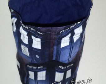 Doctor Who Tardis Round Bottom Drawstring / Dice Bag
