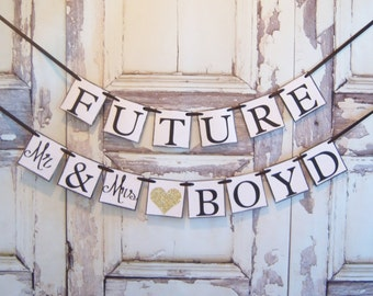 Future Mr AND Mrs Custom wedding banner, wedding banners, bride to be, bachelorette, bridal shower decorations, decorations, weddings