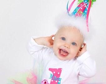 First Birthday Tutu Outfit - Baby Girl Tutu Set - 1st Birthday Cupcake Tutu - Cake Smash