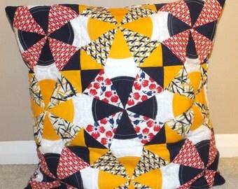 Kaleidocurve Patchwork Cushion Pillow