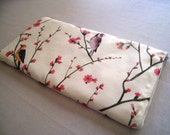 Sparrows on White - Apple or Samsung Wireless Keyboard Sleeve - Padded and Zipper Closure - Ready to Ship