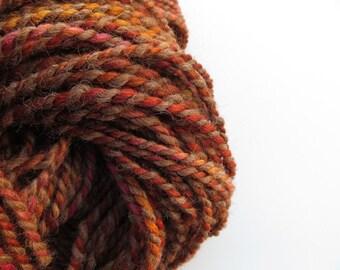 Bulky Yarn Hand Spun Llama and Wool 2 ply 6.8 oz