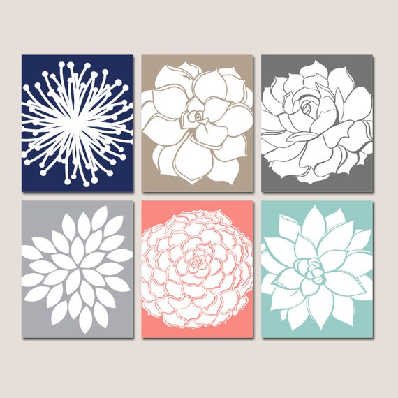 Wall Decor Etsy : Flower wall art kitchen canvas or prints by trmdesign