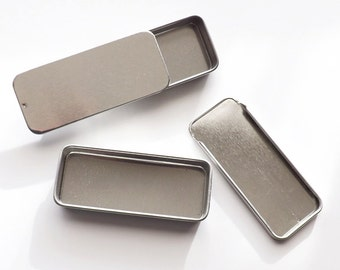 "Gift Tins Rectangular Slide Top - fits three of our 1"" magnets and pins"