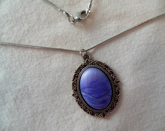 Purple Rain Cabochon Necklace