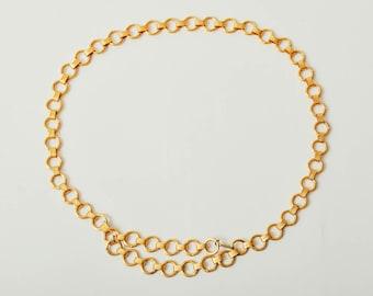 Vintage Gold Chain Link Adjustable Belt