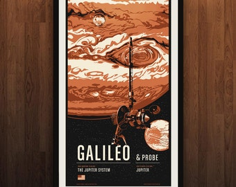 Galileo - Robotic Spacecraft Screenprint Series
