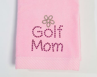 Golf Mom - Bling Towel (Pink)