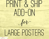 PRINT & SHIP my poster: Add-on item for any MeckMom digital poster purchase