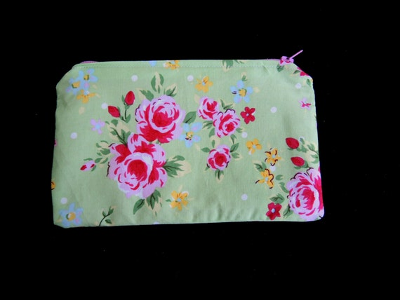 SALE 50% off Rosie Custom sub-A5 flat pouch- makeup or toiletries small bag- ready to ship