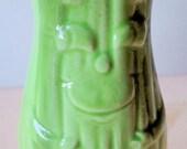 Vintage Japan CELERY Shaped SHAKER Salt or Pepper Green Stalks With Smiling Face & Arms
