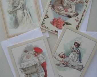 Vintage Children Greeting Cards Set of 4 Maud Humphrey