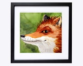 8 Red Fox animals in painting fox artwork Watercolor PRINT Nature animal decor, Orange painting fox, Watercolour fox, Nursery fox painting A