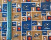 "Washington Wizards NBA cotton fabric by Sykel by the half yard 18"" long x 42"" wide  great for making gifts for him"
