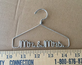 Teeny Mr. and Mrs. Personalized Ornament Hanger Bouquet Charm