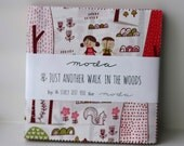 SALE 5 inch charm pack JUST ANOTHER WaLK in the Woods Moda Fabric by Stacy Iest Hsu