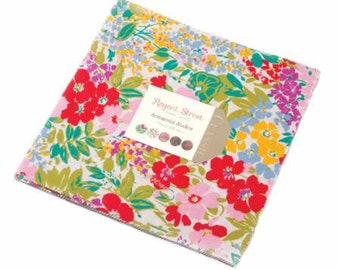 SALE It's here! REGENT STREET Lawn 2015 10 inch squares Layer Cake Moda Fabric by Sentimental Studios