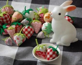 Oh So Cute Fabric Strawberries