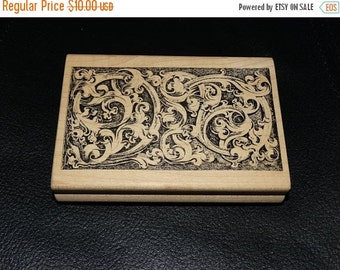 ON SALE Rubber Stamp, Ornate pattern,  Christmas Rubber Stamp, Holiday Card Stamp, A Stamp in the Hand Co. N-1968 1982-2001