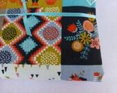 Receiving Blanket - Birch Wildland Patch - Large lined organic cotton blanket
