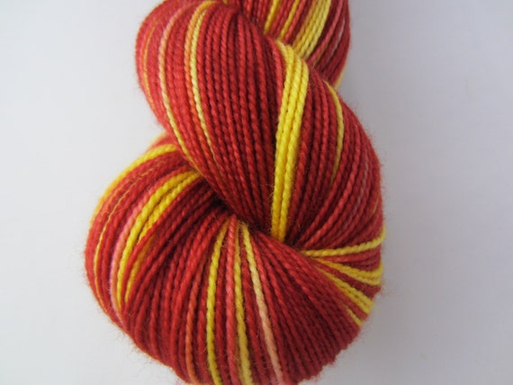 Gryffindor Roar - Dyed to Order - Hand Dyed - Merino Wool Yarn - Fingering Weight - Harry Potter Yarn