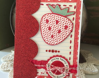 You're Berry Sweet Strawberry Card