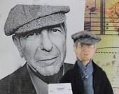 Leonard Cohen Doll Fan Art Miniature Musician Character