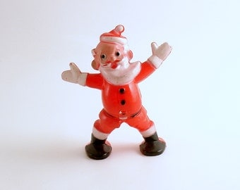 Vintage Santa Christmas Decoration Candy Container