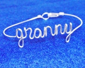 Granny Bracelet , Custom Handmade Jewelry.Personalized Custom fitted , ANY size.Made in Copper, Gold , Silver. Special handmade Gifts