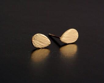 Water drop Golden Stud Earring Post Finding (ET036A)