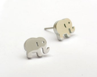 Elephant Stainless Steel Earring Post Finding (EE446)