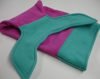 Mermaid Tail Magenta and Seafoam Fleece DOLL INFANT BABY Size 10 x 18 Ready to Ship On Sale