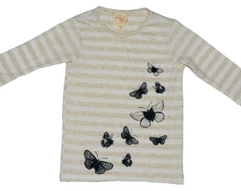 SAMPLE SALE -  Lily t-shirt in Mariposa - Size 3... Versatile!