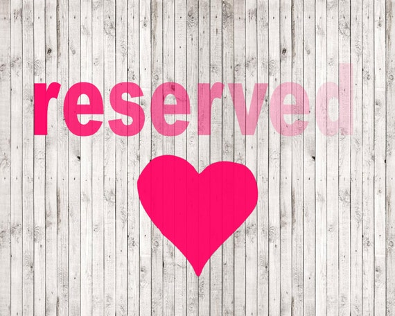 Reserved for Desiree