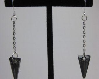 Swarovski Elements Crystal Spear Dangle Earrings