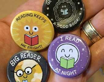 Take Me To Your Reader Buttons - SET TWO