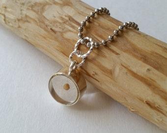 Large Mustard seed jewelry pendant,  real mustard seed charm