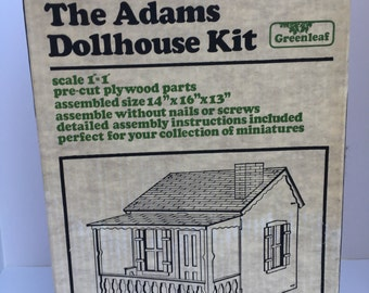 SALE Dollhouse Kit in Original Box 1981 Vintage Build One to One Scale