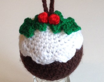 Christmas Pudding - Crochet Bauble Pattern