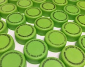 100 Bright Green Plastic Bottle Caps