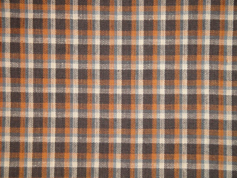 Homespun Fabric Plaid Fabric Cotton Fabric Primitive